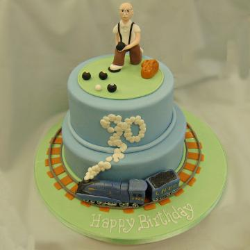 Above 2 Tier 90th Birthday Cake Price Band BB