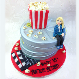Movie lovers cake. Price band E